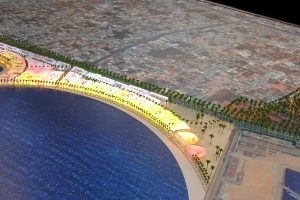 Masterplan Model Of Tripoli Waterfront For Foster + Partners