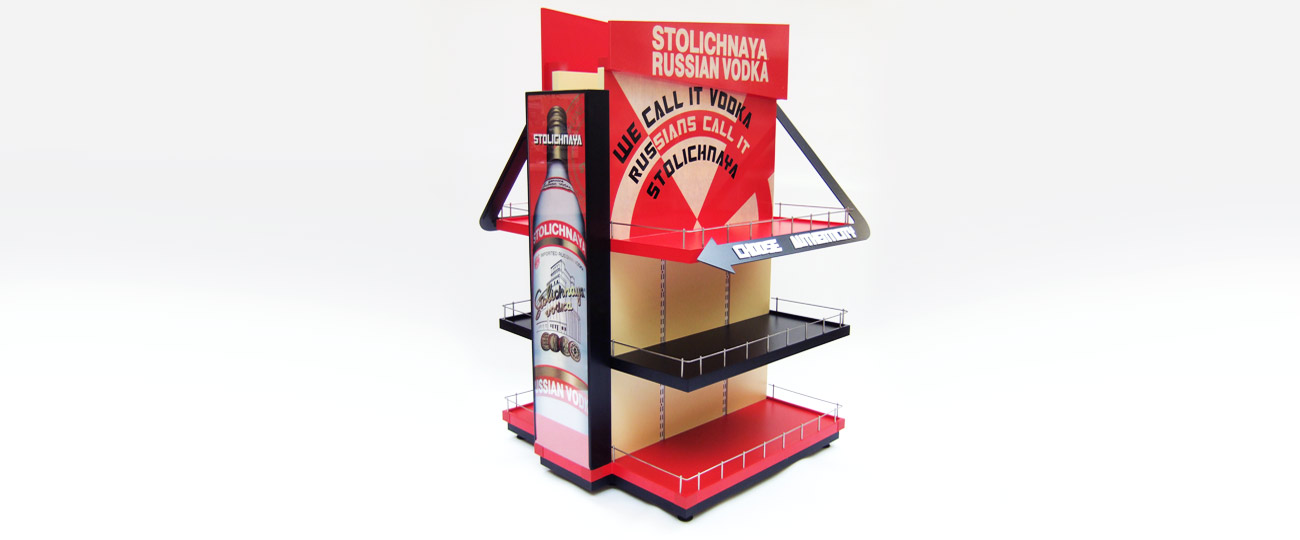 Point Of Sale Display For Stolichnaya Vodka