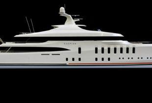 Caspian Superyacht Model For Claydon Reeves