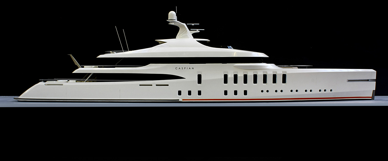 Caspian Superyacht Model For Claydon Reeves