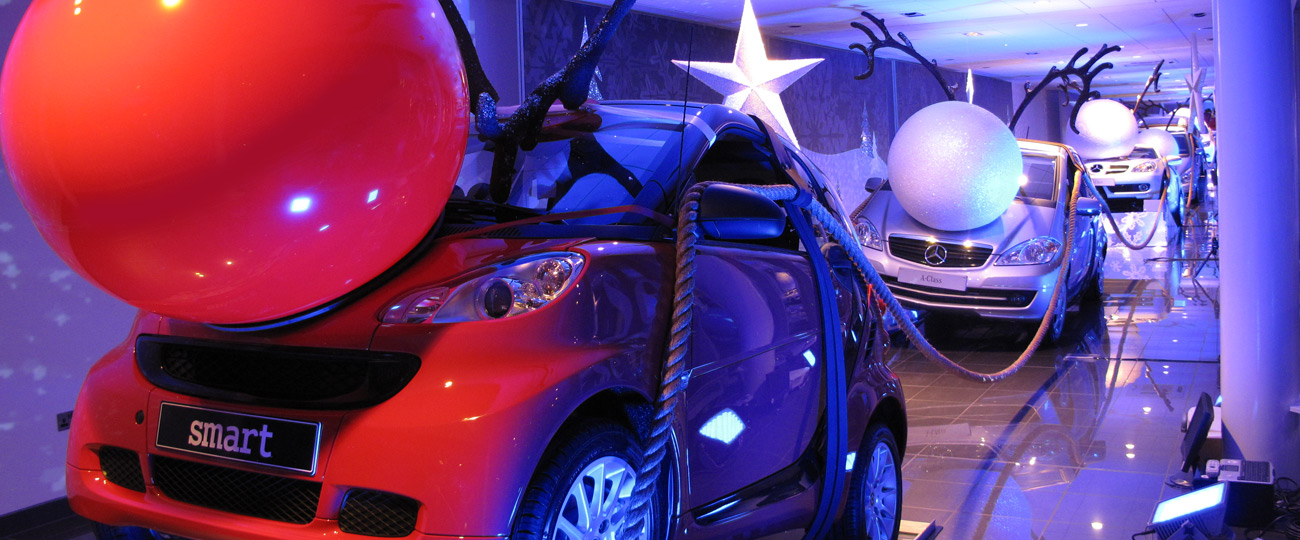 Mercedes-Benz Christmas Window Display