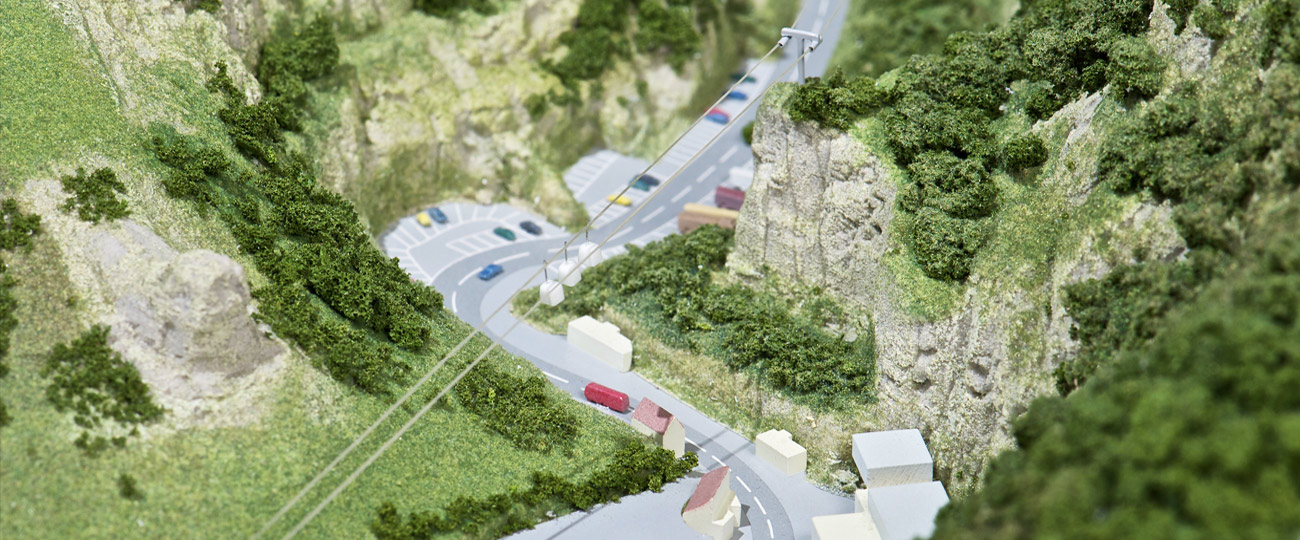 Architeectural-model of Cheddar-Gorge