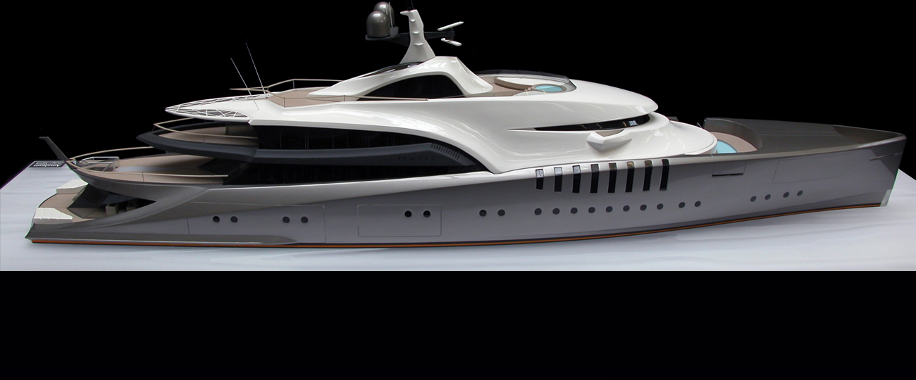 Remora Superyacht Model For Claydon Reeves