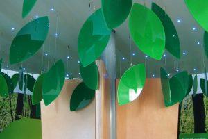EDF Energy Exhibition Information Trees