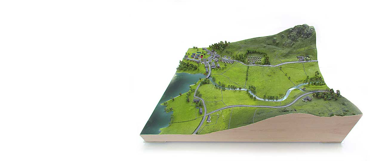 Landscape Model Of The Lake District
