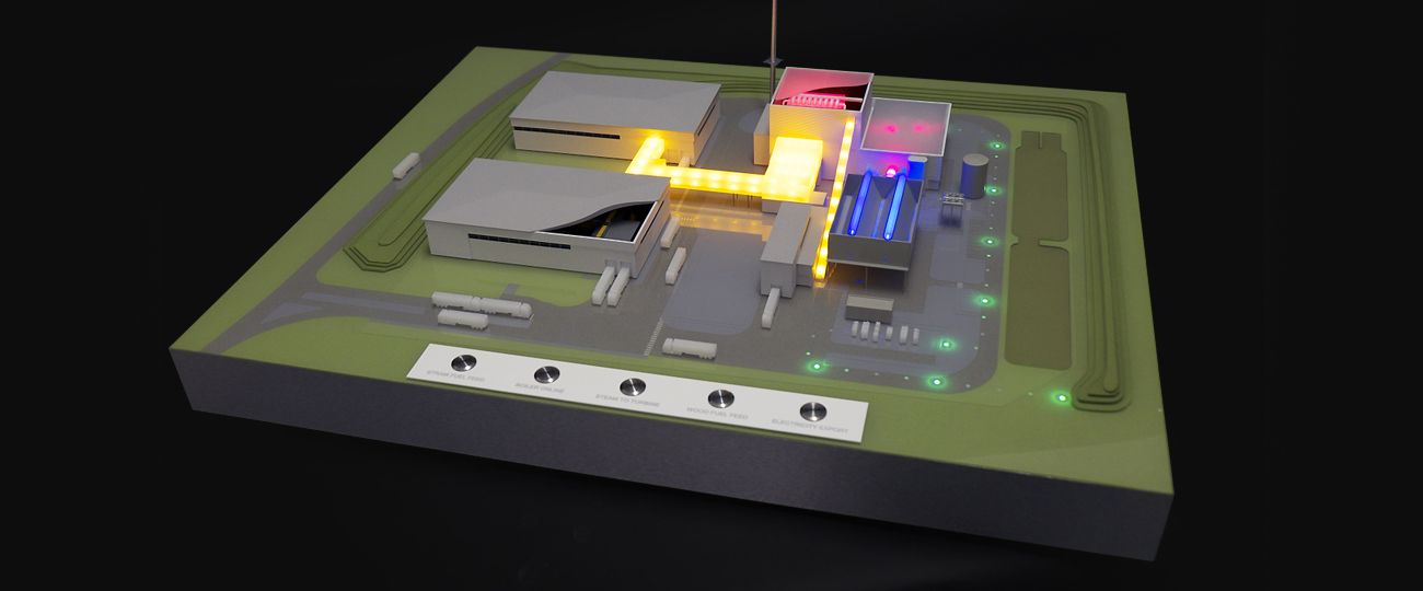 1/400 Interactive Biomass Energy Architectural Model
