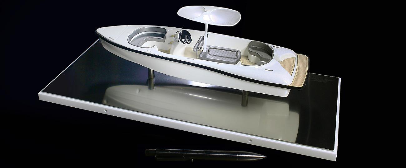 Tender Model Ken Freivokh Desktop Boat Model