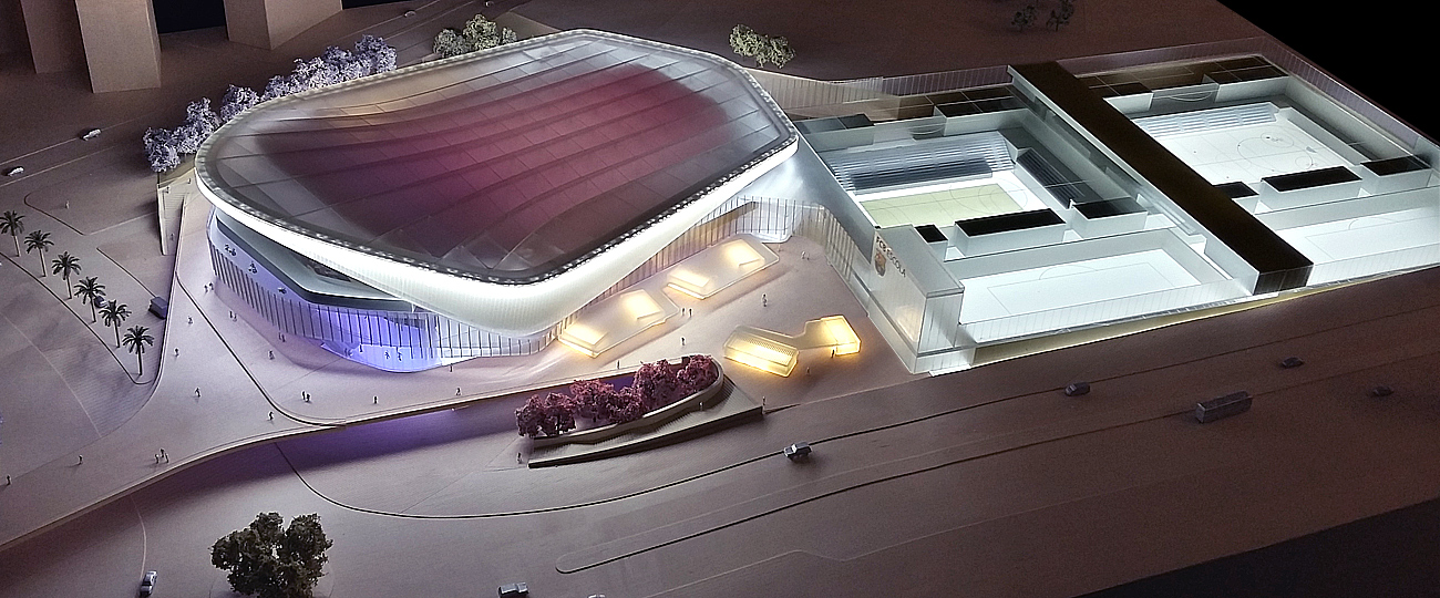 Barcelona Stadium Architectural Model
