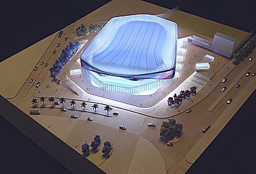 HOK Barcelona Stadium model dynamic lighting
