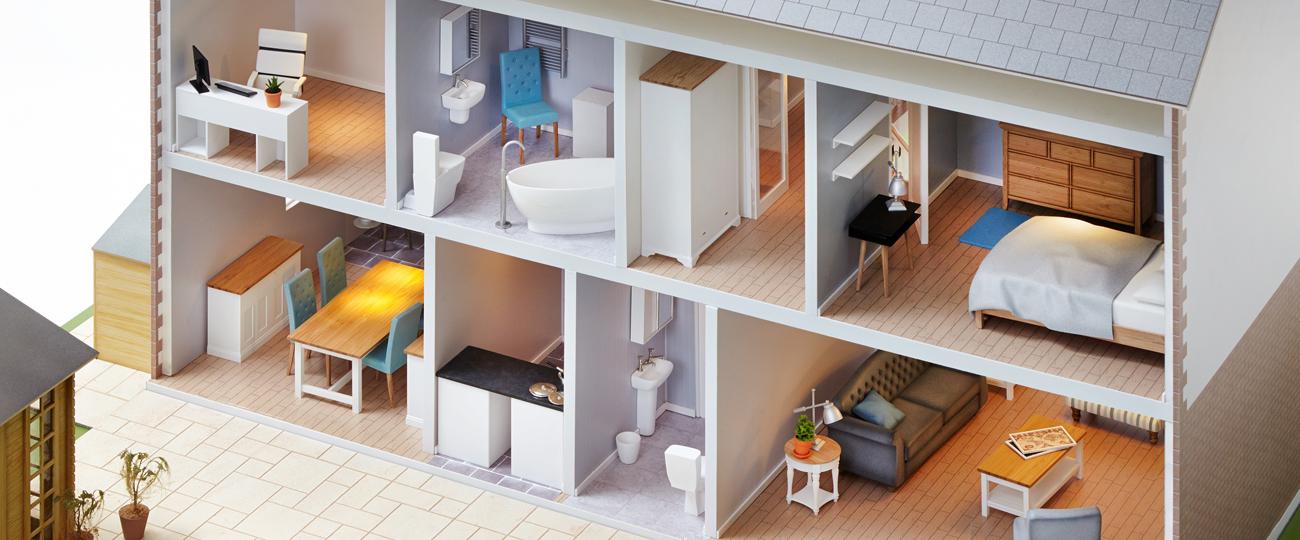 Contemporary Dolls Home