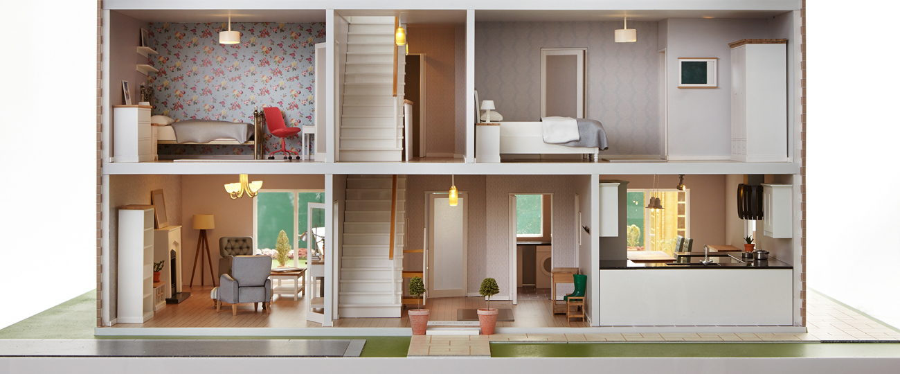 Contemporary Dolls House Model