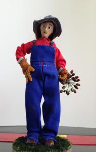 Julia Nichols New Blades finished armature puppet