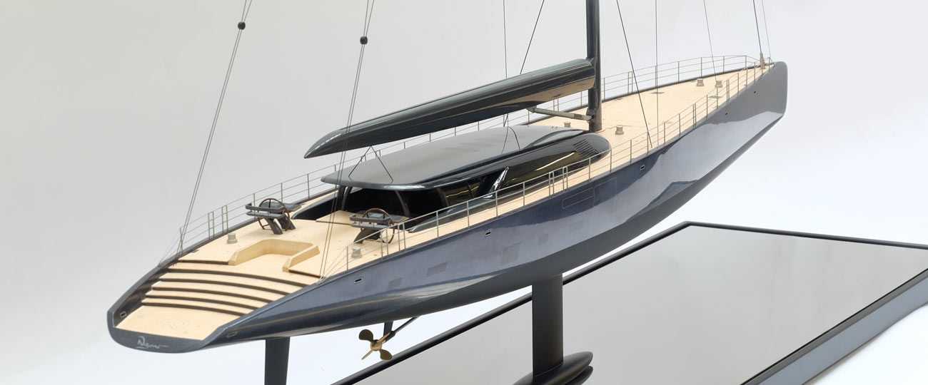 Scale Model Of Super Yacht Ngoni