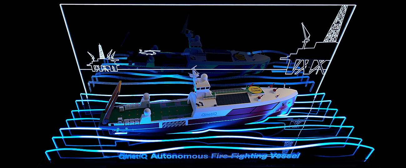 Qinetiq Autonomous Firefighting Vessel