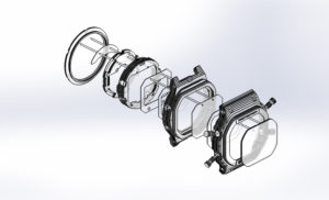 G Shock display CAD model