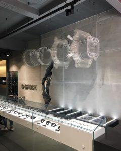 G Shock display installed
