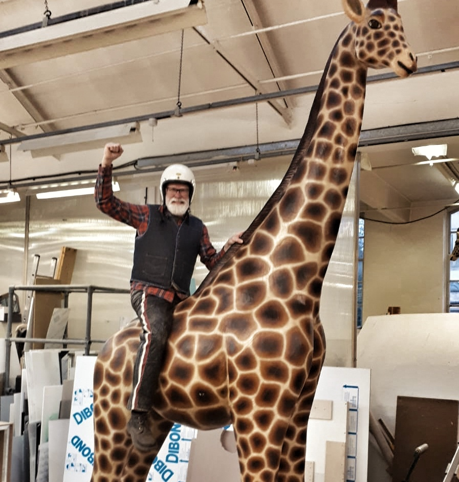 Uber Giraffe - we're on the move