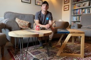 Joe Gomm with his furniture - Amalgam