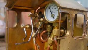 Miniature working engineering - Locomotive cab detail